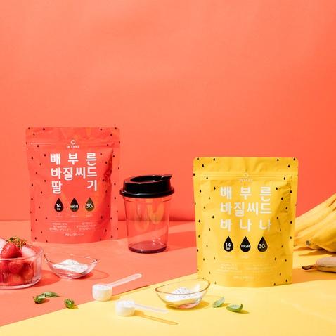 [Set] 배부른 바질씨드 딸기바나나+쉐이커