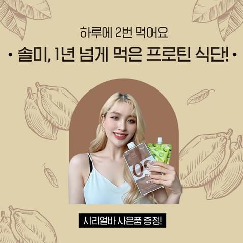 [오픈] 솔미가 1년 넘게 먹은 프로틴 식단