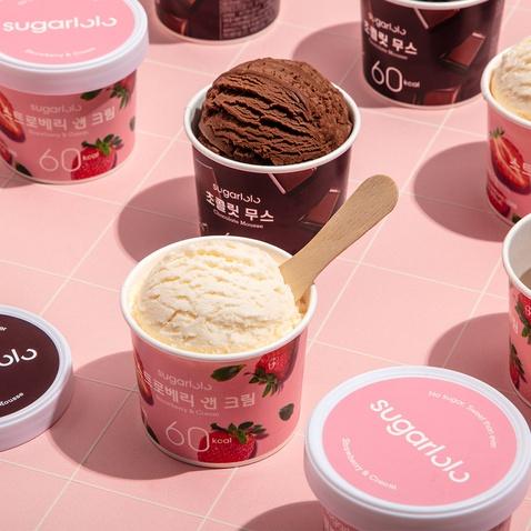 슈가로로 아이스크림 스트로베리앤크림 *12개입